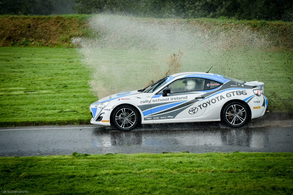 Toyota GT86 making a splash at Rally School Ireland